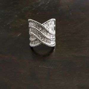 Jewelry - 925 Sterling Silver White Sapphire Ring